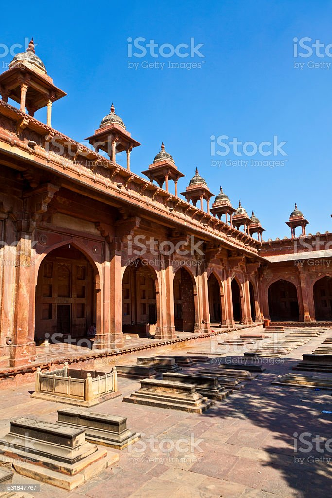 Mosque Jama Masjid in Fatehpur Sikri, Agra, India stock photo