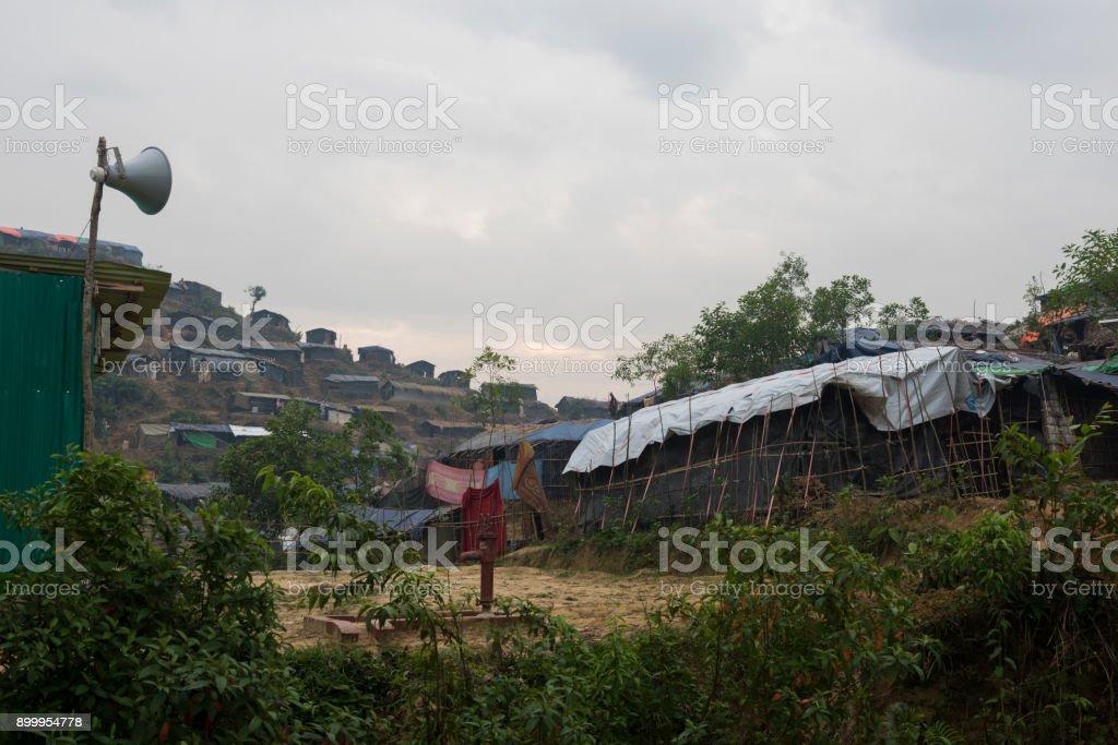 Moschee-Lautsprecher Rohingya Flüchtlingslager in Bangladesch – Foto