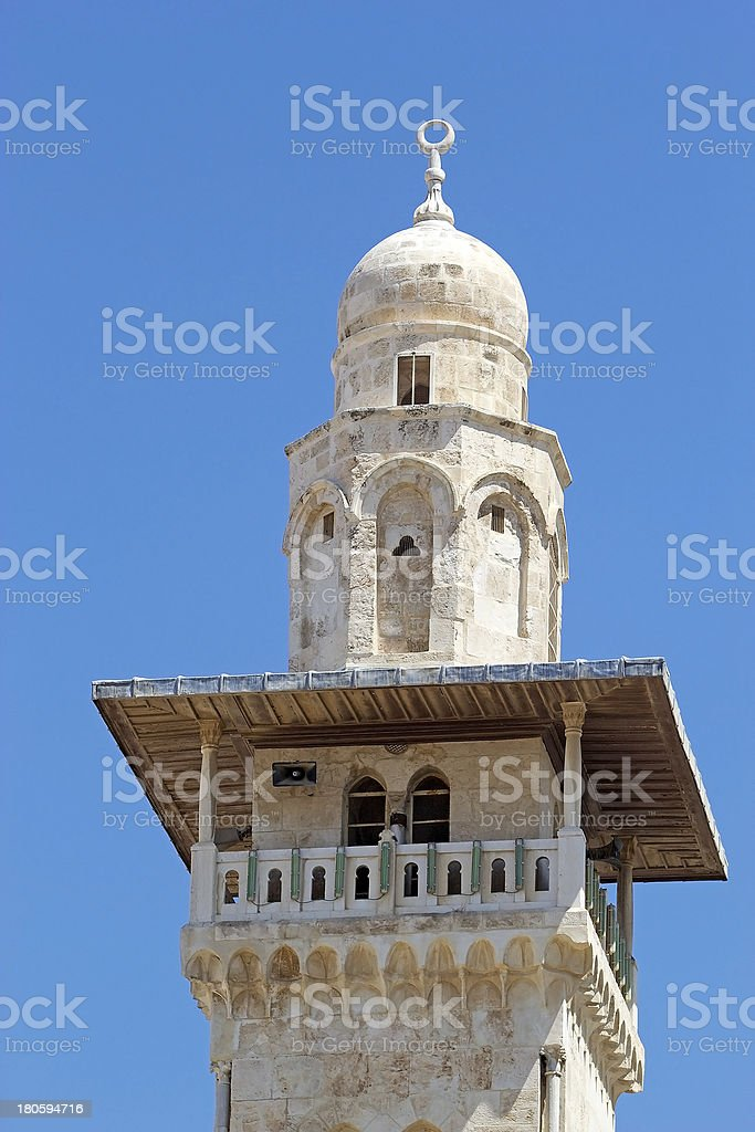 Mosque minaret royalty-free stock photo