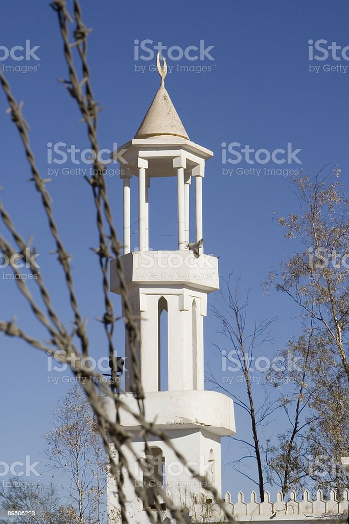 Mosque Minarett royalty-free stock photo
