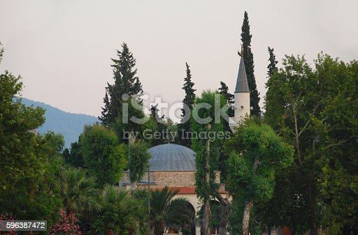 istock Mosque of Dalyan in Turkey by Dawn. 596387472