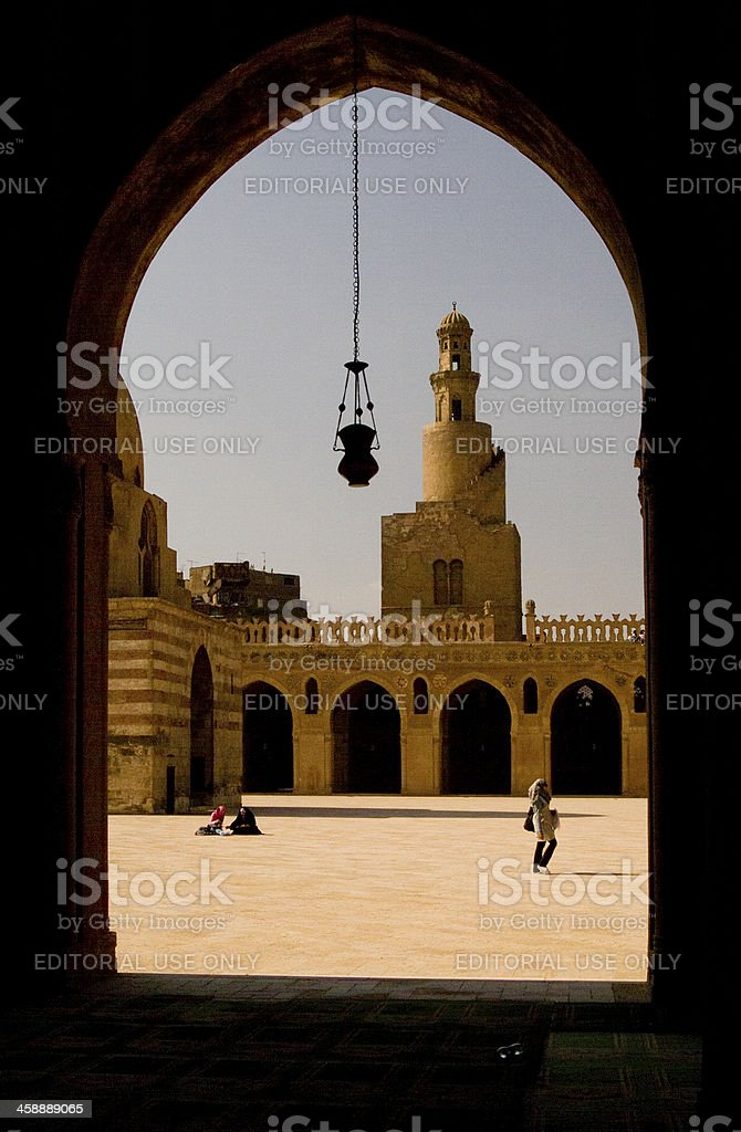 Mosque of Ibn Tulun - Cairo royalty-free stock photo