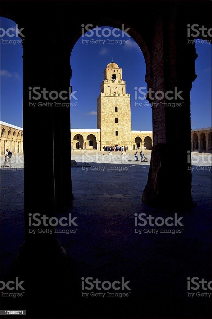 Mosque of Kairouan stock photo