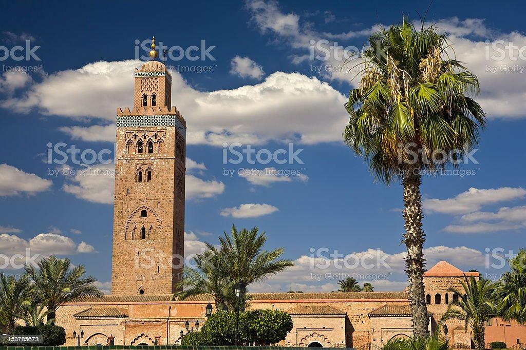 Mosque of Koutoubia in Marrakech, Morocco stock photo