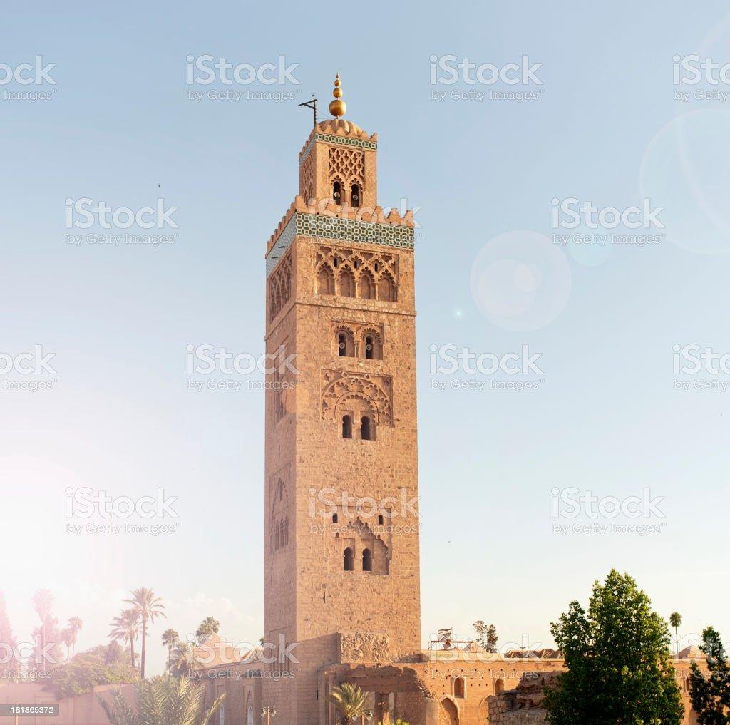 Mosque of Koutoubia, Marrakech, Morocco stock photo