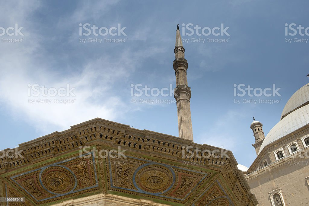 Mosque of Muhammad Ali, fragment royalty-free stock photo