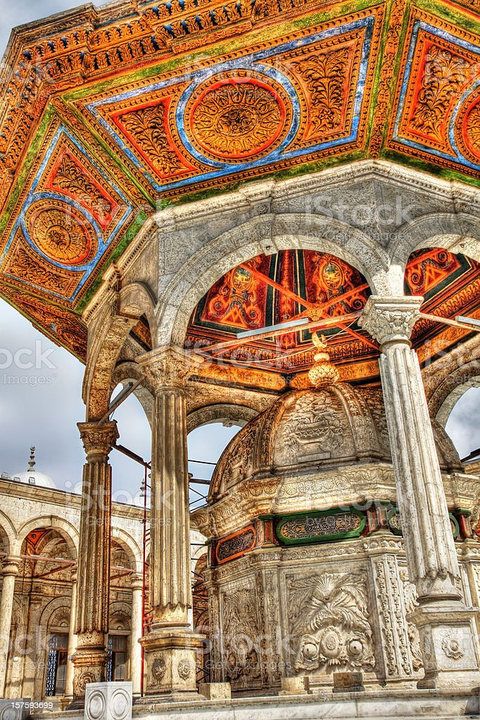 Mosque Of Muhammad Ali Pasha Courtyard - HDR royalty-free stock photo