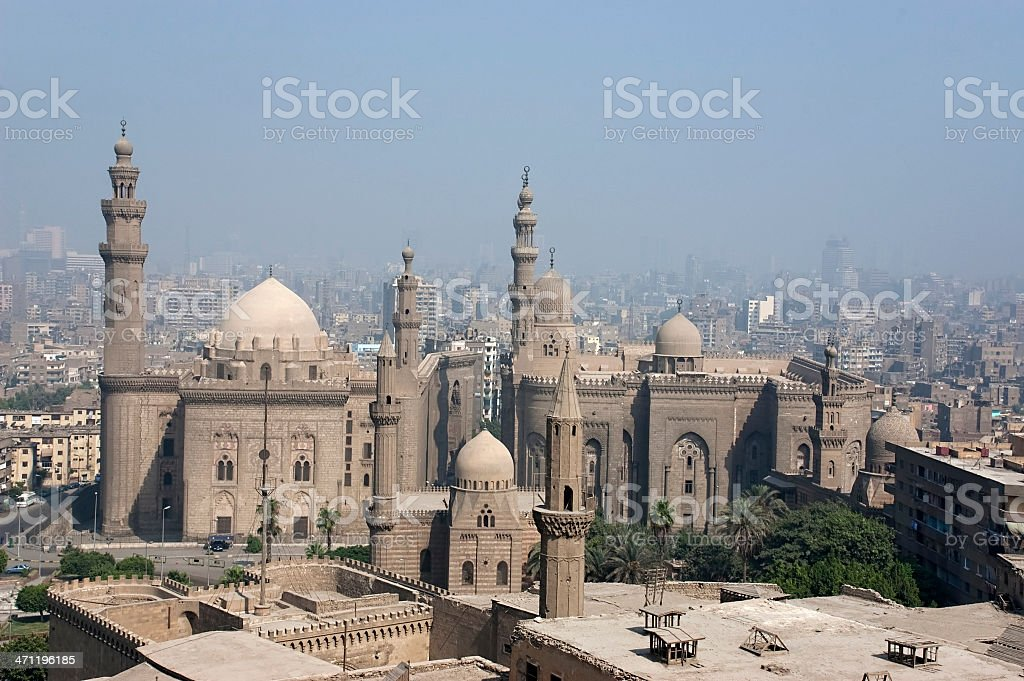 Mosque of Sultan Hassan stock photo