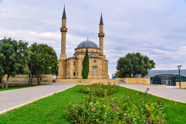 Mosque of the Martyrs. Baku stock photo