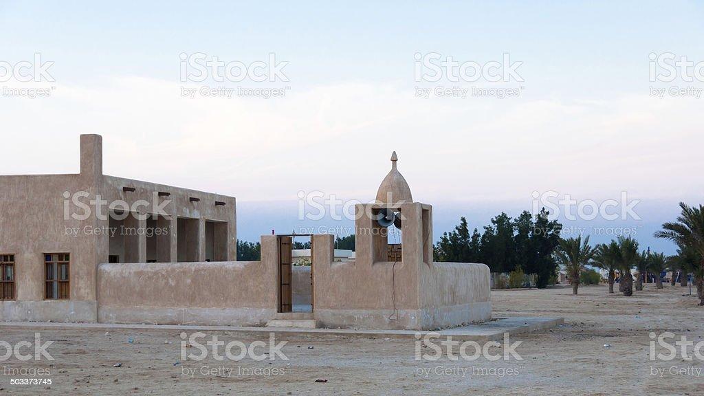 Mosque on a beach (Simaisma)in Doha, Qatar stock photo