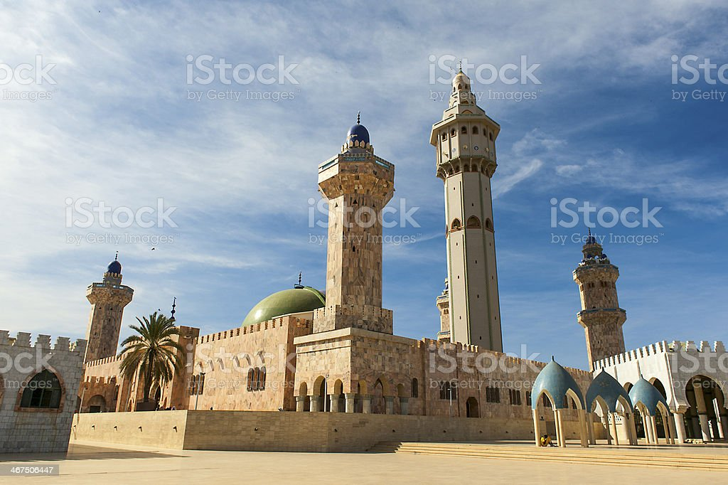A mosque on a clear and sunny day stock photo
