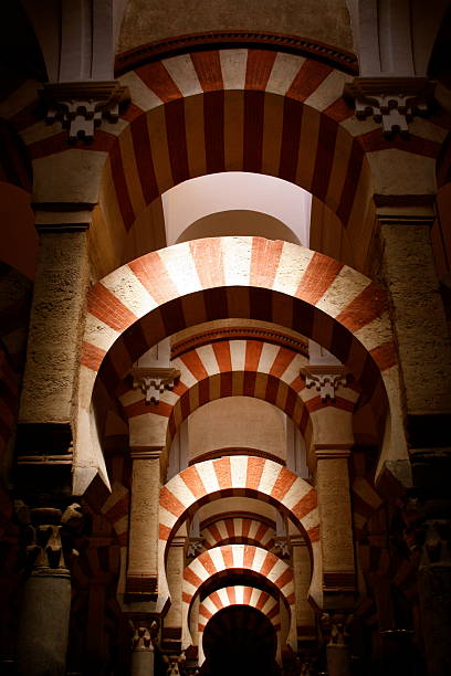 mezquita arches of the mosque cordoba mosque stock pictures, royalty-free photos & images