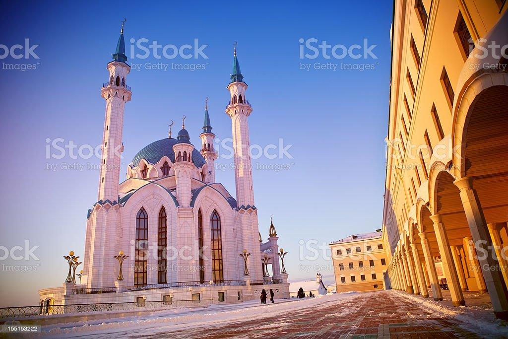 Moschee Qolsharif bei Sonnenuntergang – Foto