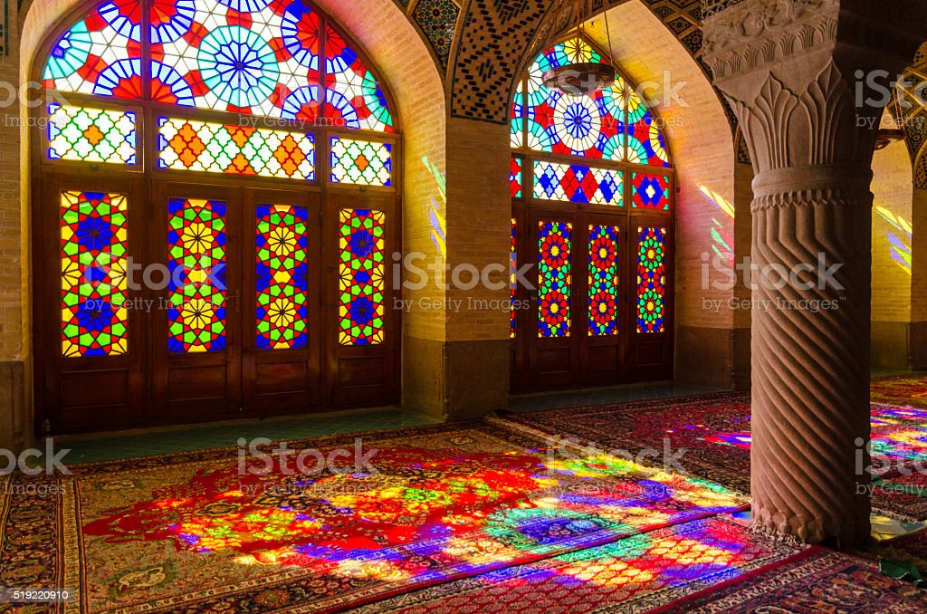 Mosque, Shiraz, Iran stock photo