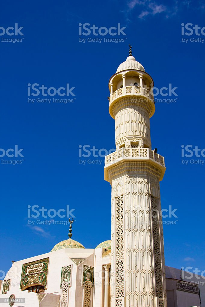 Mosque with beautiful blue sky stock photo