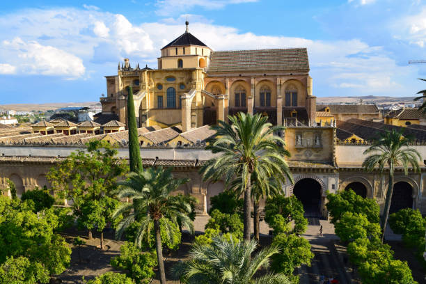 Mosque-Cathedral Cordoba The Mosque-Cathedral from the Torre Campanario in Cordoba, Andalusia, Spain cordoba spain stock pictures, royalty-free photos & images