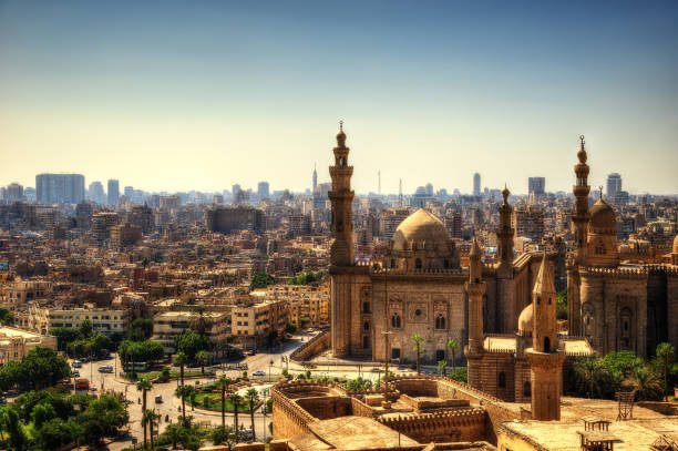 Mosque-Madrassa of Sultan Hassan Cairo stock photo