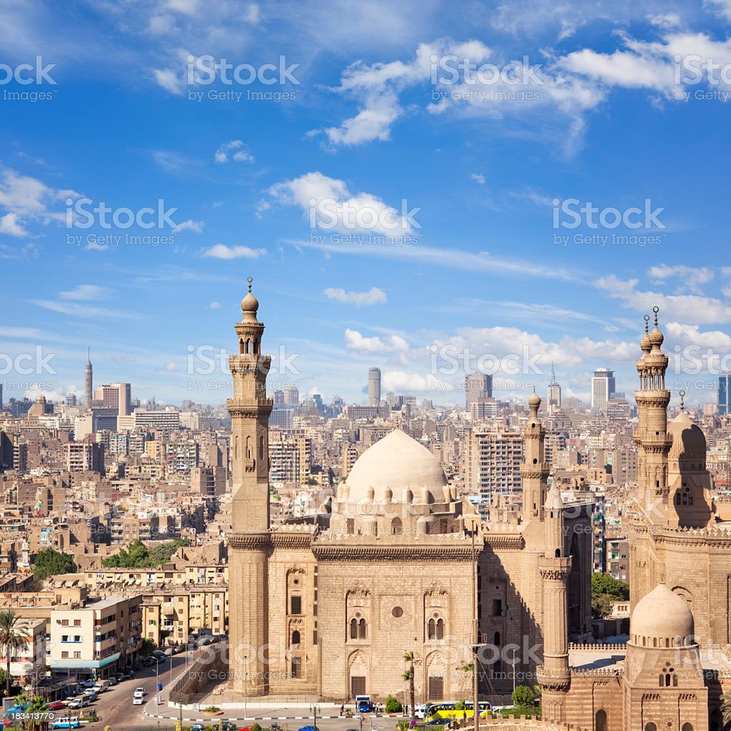 Mosque-Madrassa of Sultan Hassan ( Cairo ) stock photo