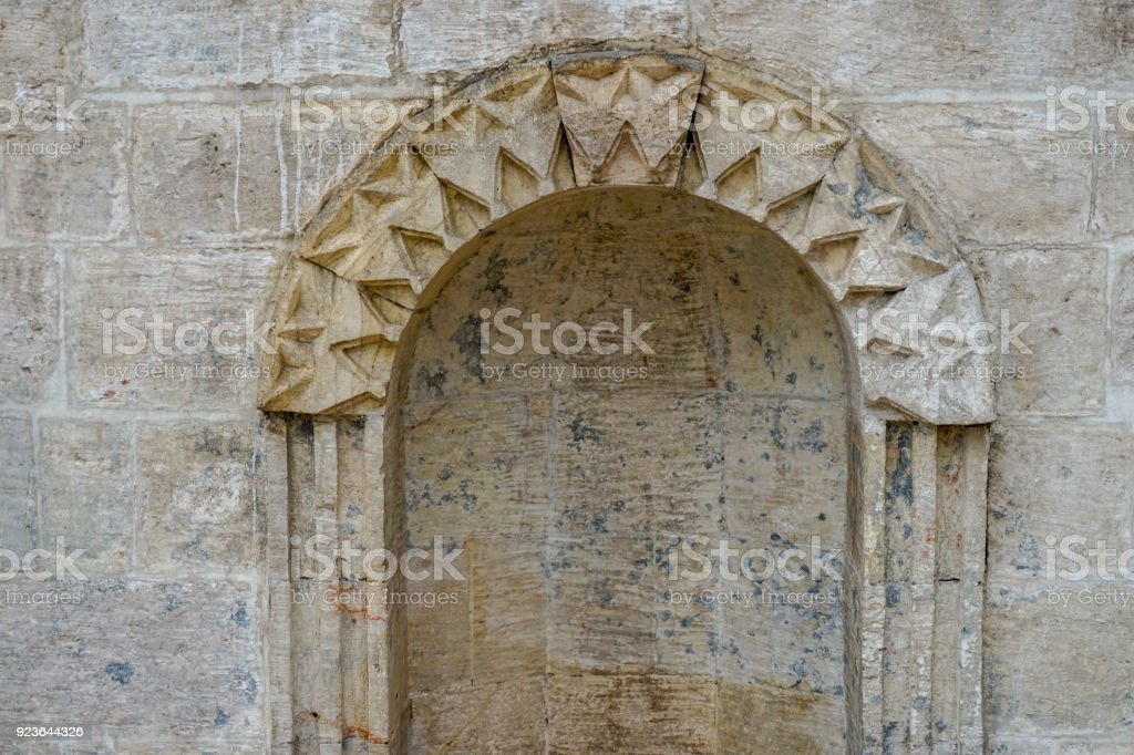Mosques and historical works view from Urfa Turkey stock photo