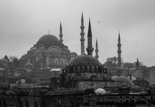 Mosques in Istanbul, Turkey Mosques in Istanbul, Turkey minaret stock pictures, royalty-free photos & images