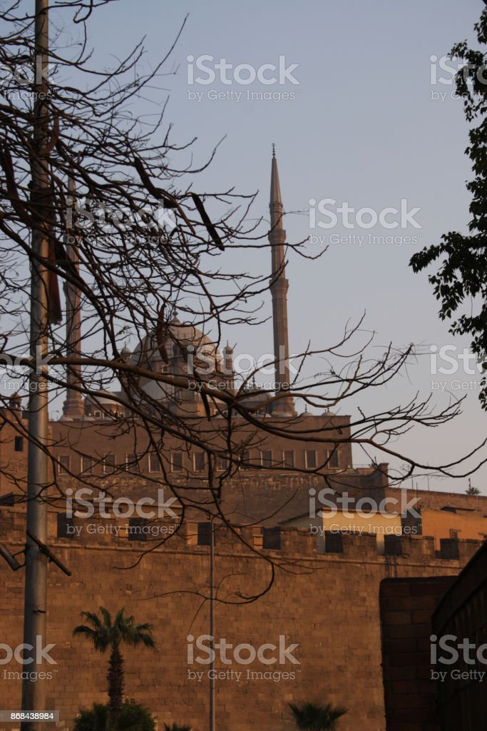 Mosques in Sunset stock photo
