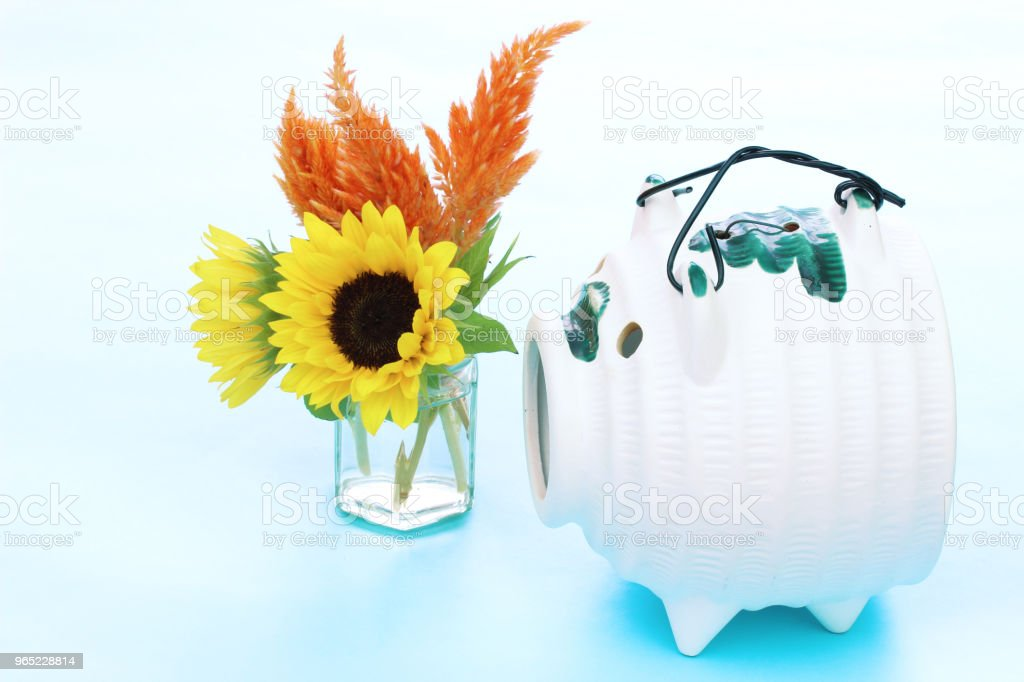 mosquito  coil and sunflower royalty-free stock photo