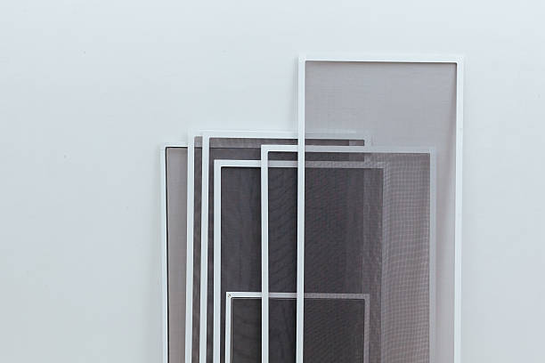UPVC Mosquito Net PVC Mosquito mesh for windows, Doors. Netting Against Mosquito netting stock pictures, royalty-free photos & images