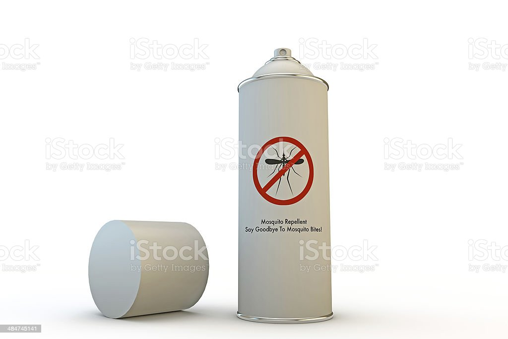 mosquito spray can stock photo