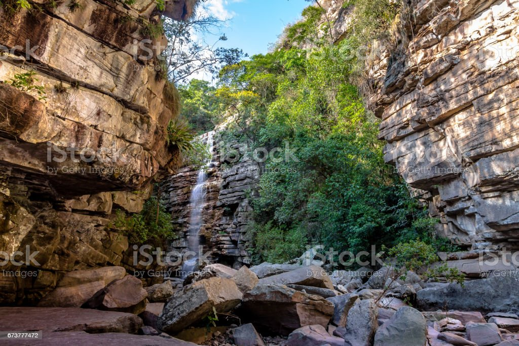 Sivrisinek şelale Chapada Diamantina - Bahia, Brezilya içinde royalty-free stock photo