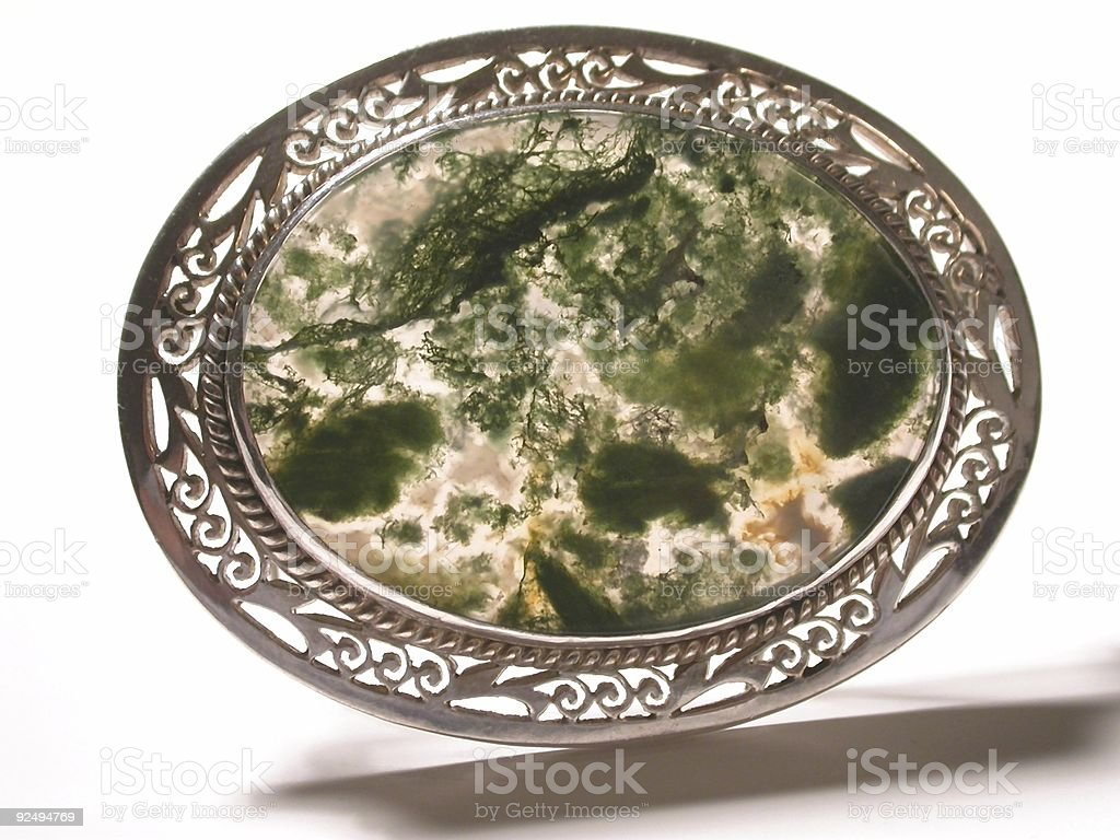 Moss Agate Pin royalty-free stock photo