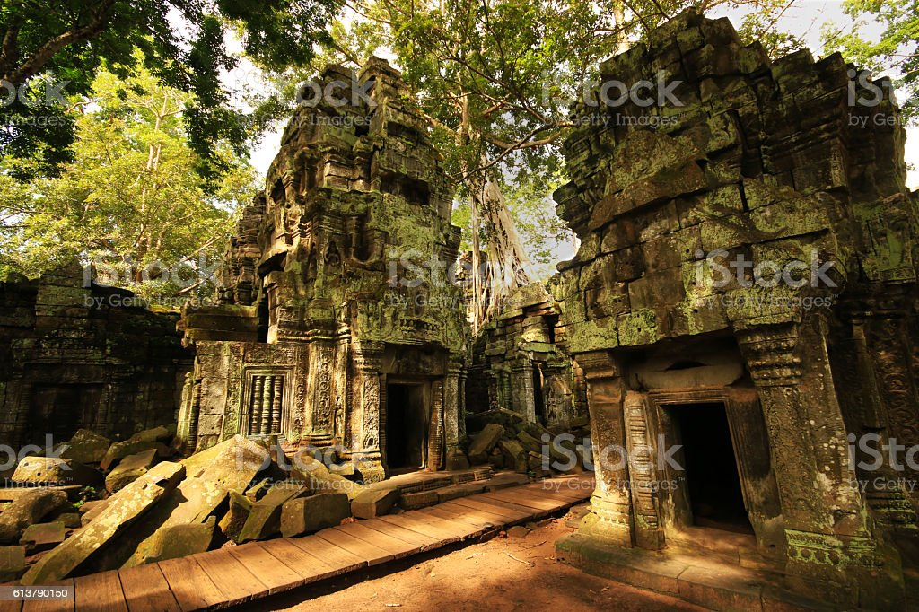 Moss Covered Temples stock photo