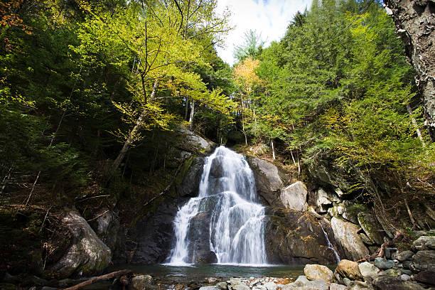 Moss Glen Falls Vermont stock photo