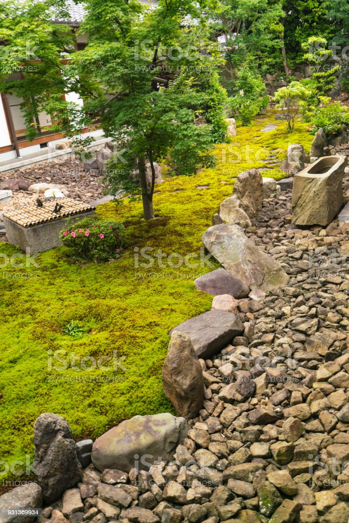 Moss stone garden with water tank of chionji temple in kyoto japan moss stone garden with water tank of chion ji temple in kyoto japan workwithnaturefo