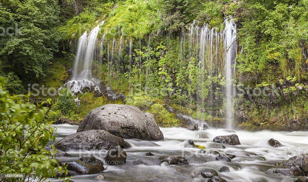 Mossbrae Falls and Sacramento River, Dunsmuir, California stock photo