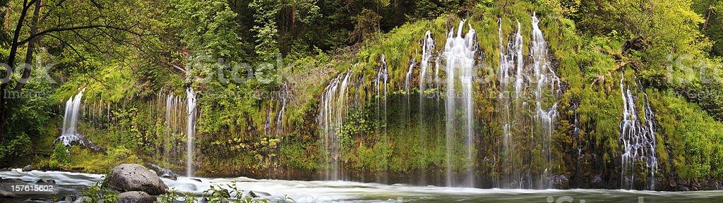 Mossbrae Falls panorama stock photo