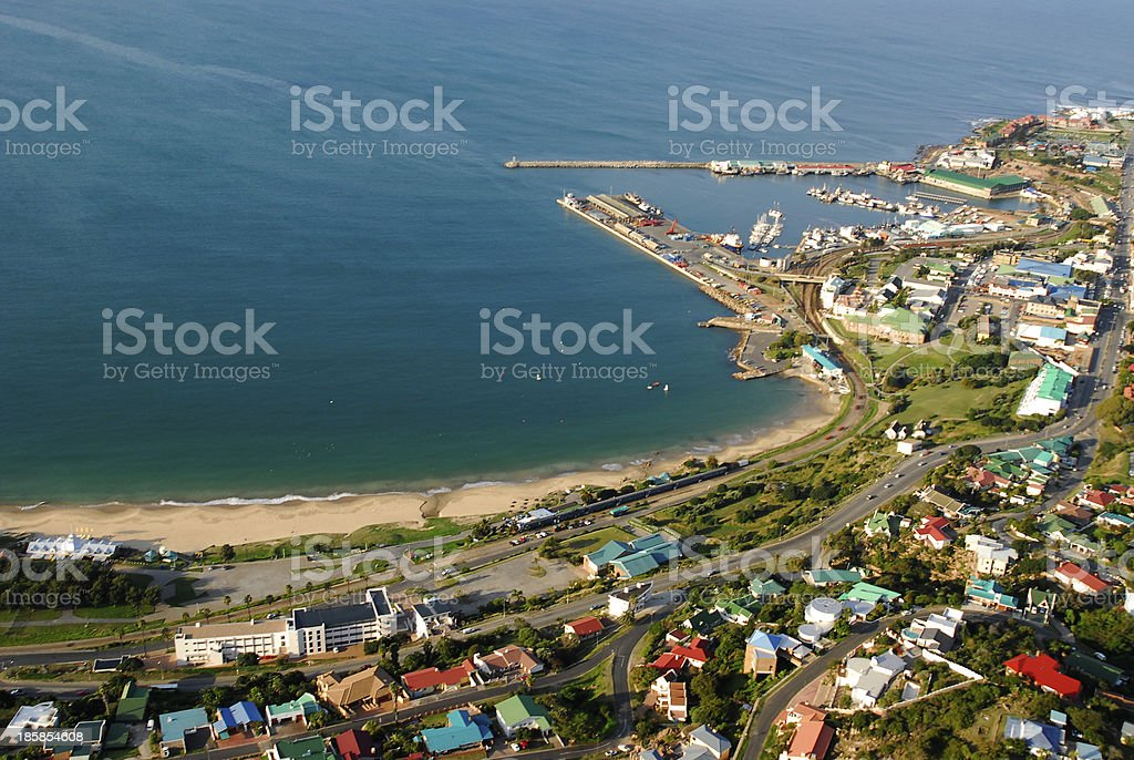 Mossel Bay Aerial photo, South Africa stock photo