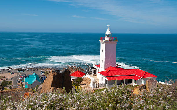 Mossel Bay Lighthouse, South Africa stock photo