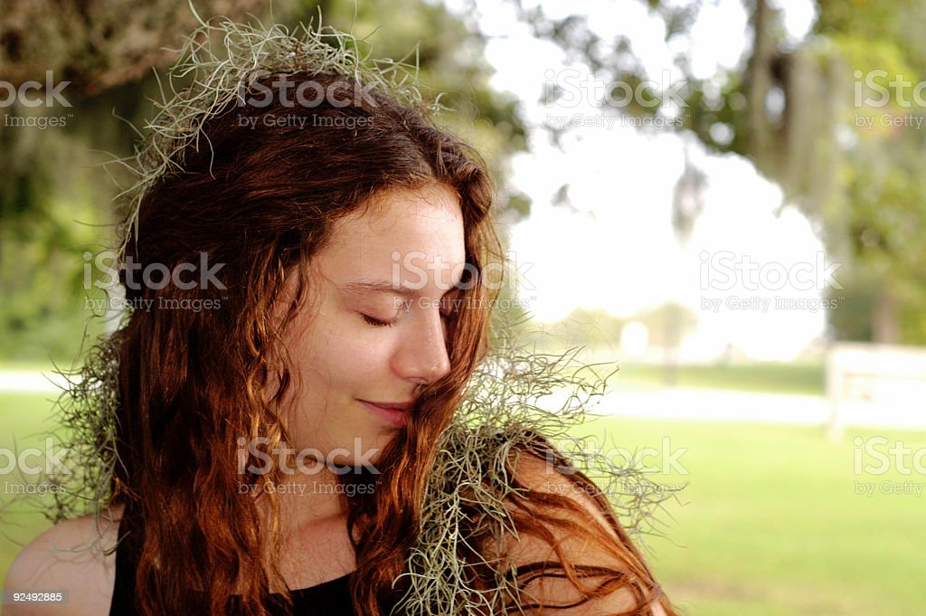 Mossy nymph royalty-free stock photo
