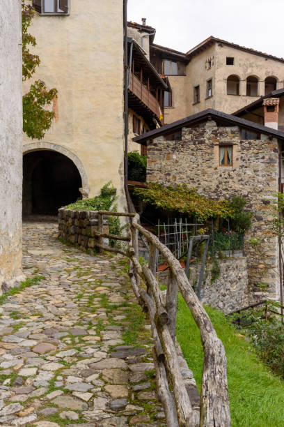 Most beautiful villages in Italy. stock photo