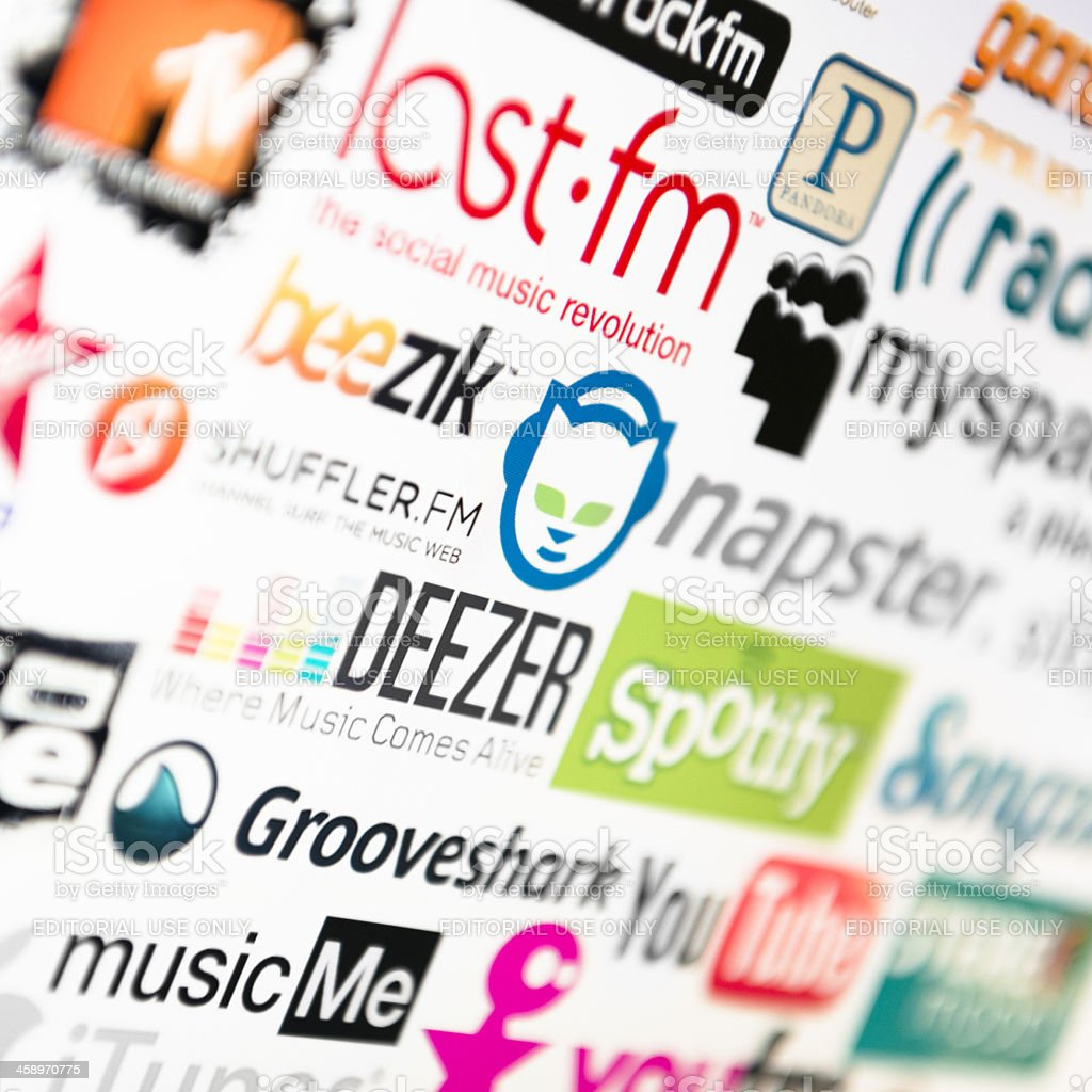 most famous logotype of free website for sound listening royalty-free stock photo