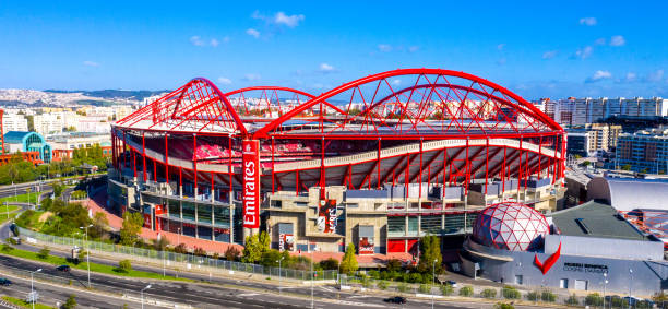 most famous soccer stadium in lisbon - estadio da luz of benfica - city of lisbon, portugal - november 5, 2019 - benfica imagens e fotografias de stock
