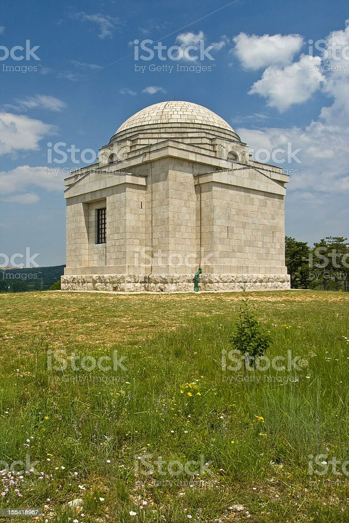 Most Holy Redeemer Church under the skies royalty-free stock photo