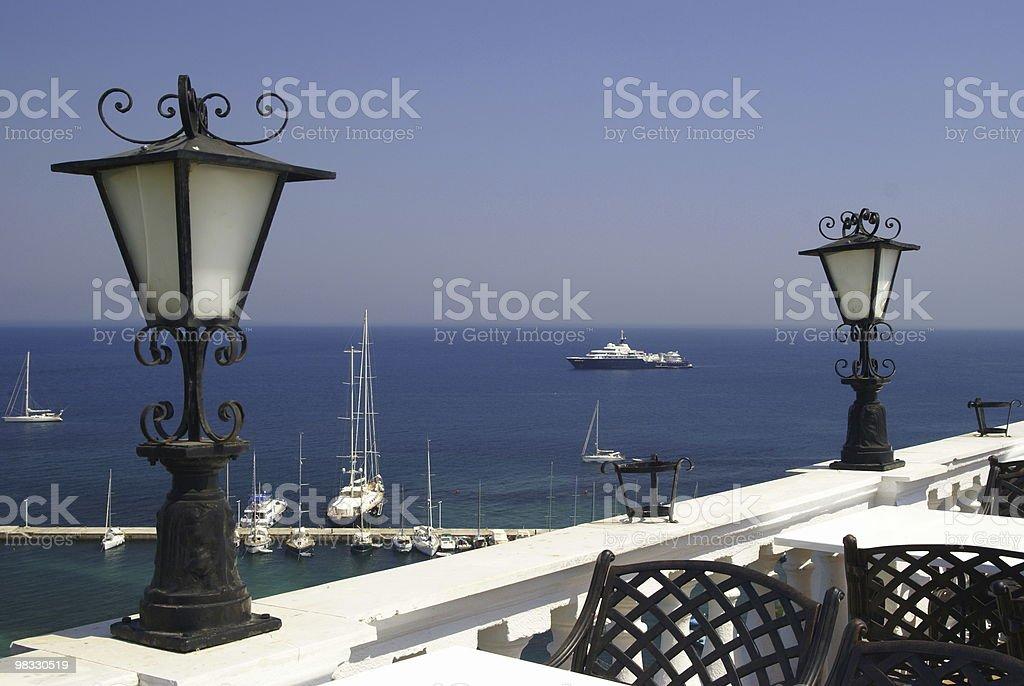 에서 가장 인상적인 파노라마 Korfu royalty-free 스톡 사진