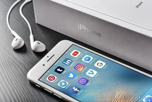 istock Most popular social media icons 1029479656