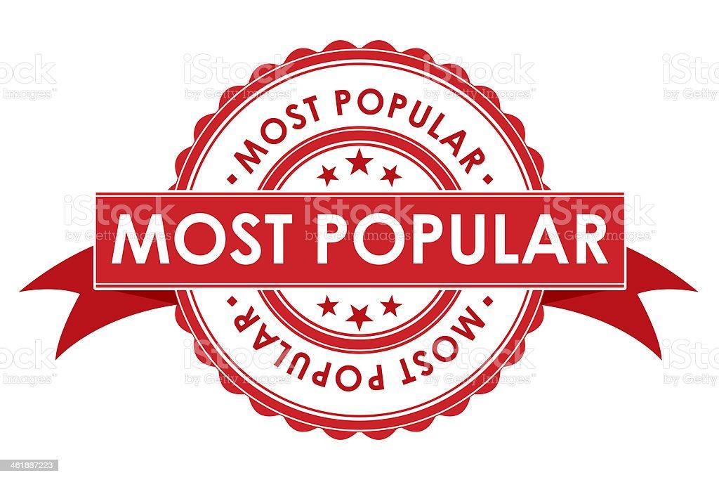 Most Popular Symbol With Ribbon stock photo