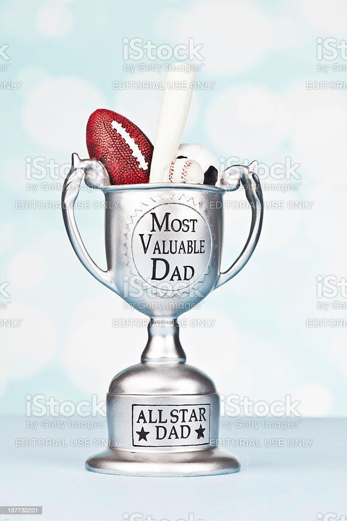 Mais valiosos pai Trophy - foto de acervo