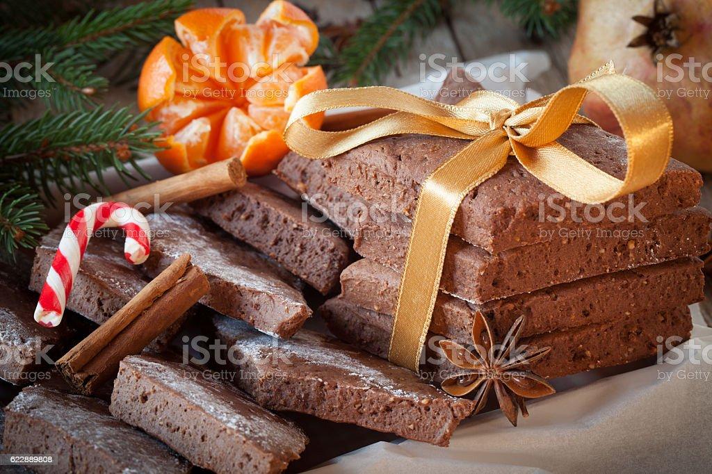 Mostaccioli Italian Biscuits stock photo