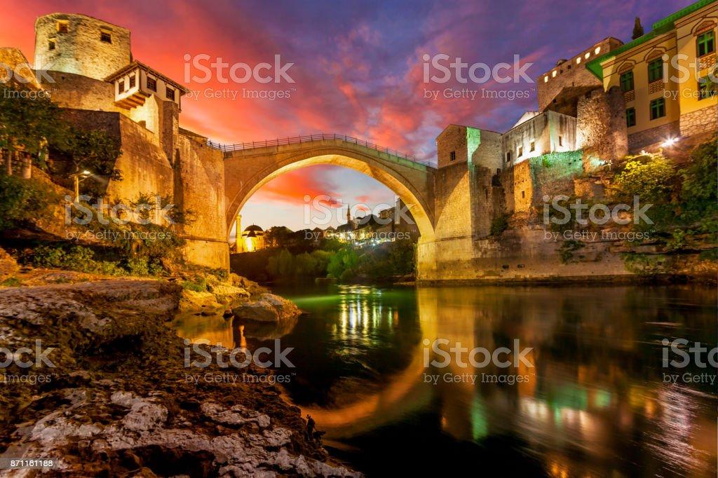 Mostar Köprüsü stok fotoğrafı