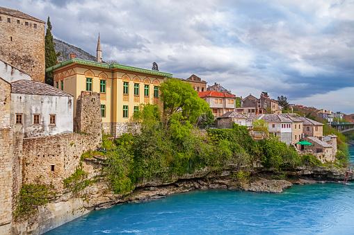 mostar city view at hdr image