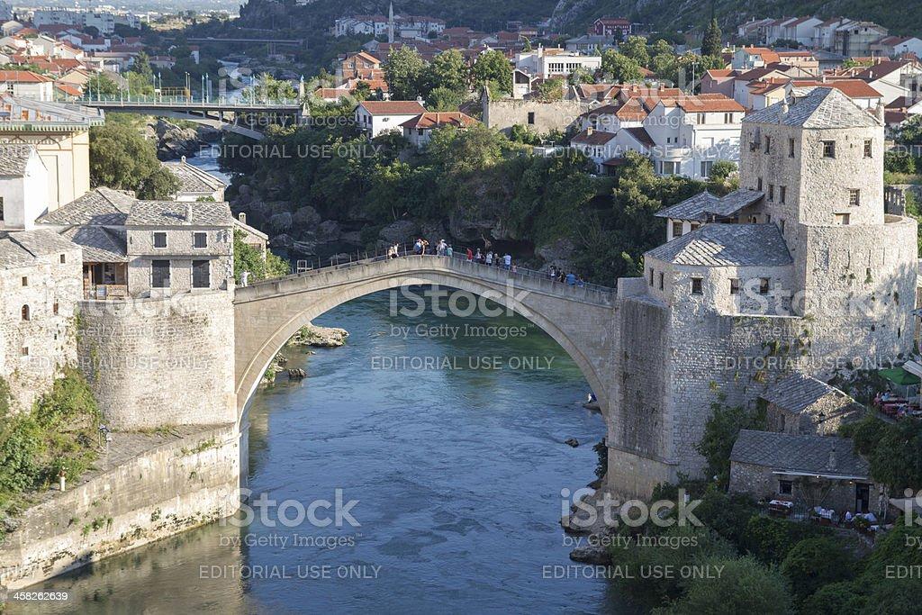Mostar old bridge royalty-free stock photo